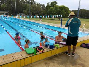 Modern Pentathlon Coffs Harbour swimming squad training.