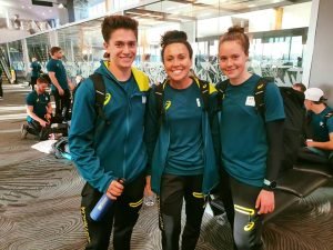 Keean, Chloe and Nikita off to the Youth Olympic Games.