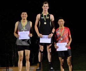 Liu Yang (NSW), Rhys Lanskey (QLD) and Kok Kiat Kuan (Singapore)