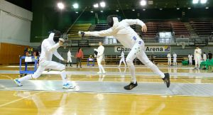 Rhys Lanskey Fencing at Nationals
